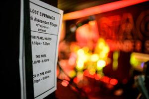 Das Lineup auf der Nick Alexander Memorial Stage am zweiten Abend des Lost Evenings 2 Festivals im Roundhouse