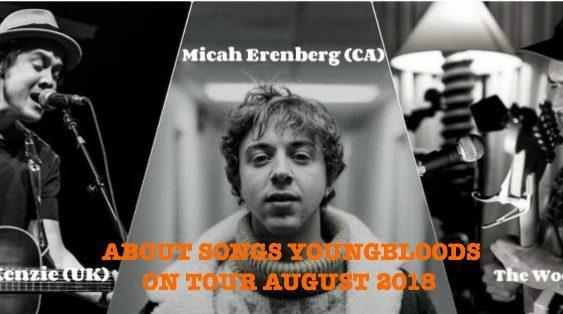Die Youngbloods-Tour von About Songs mit Jon Kenzie, The Wooden Wolf und Micah Erenberg live im August und September 2018