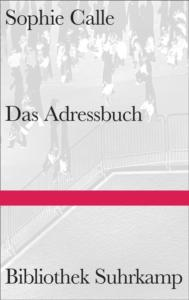 Sophie Calle Das Adressbuch Cover Suhrkamp Verlag