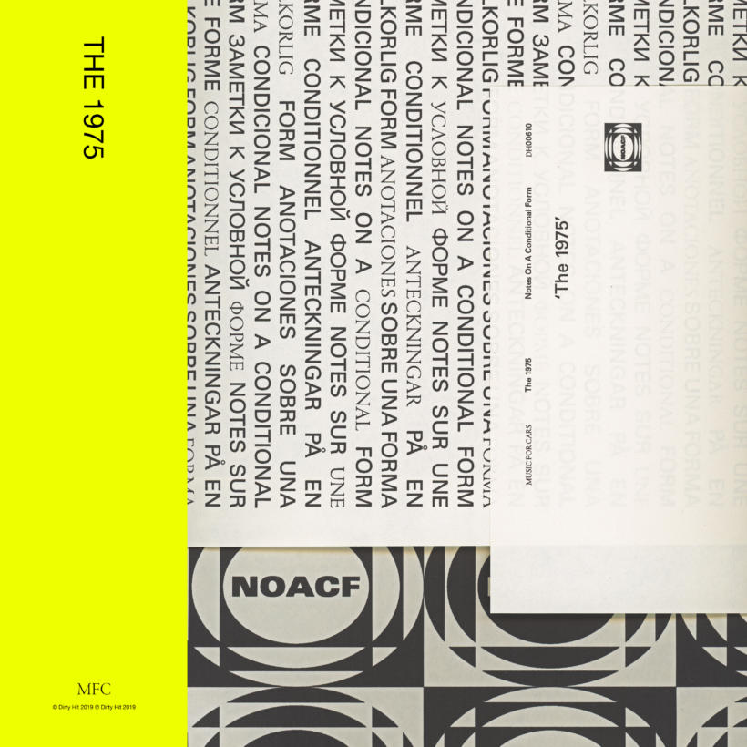 The 1975 Notes On A Condional Form Cover Polydor Universal